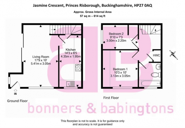 Floor Plan Image for 2 Bedroom Terraced House to Rent in Princes Risborough