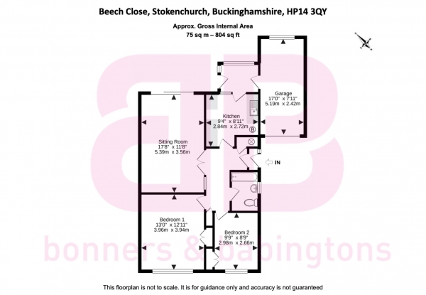 Floor Plan Image for 2 Bedroom Semi-Detached House for Sale in Beech Close, Stokenchurch