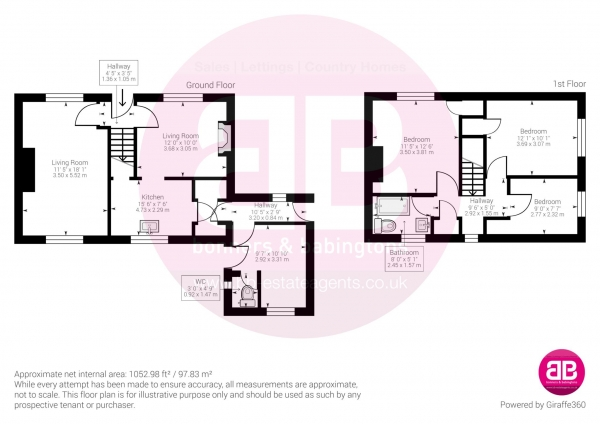 Floor Plan Image for 3 Bedroom Semi-Detached House for Sale in Icknield Close, Kingston Blount - NOW SOLD - SIMILAR PROPERTIES REQUIRED