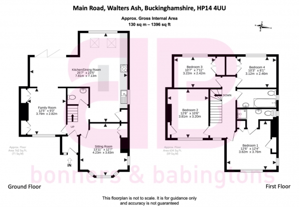 Floor Plan Image for 4 Bedroom Semi-Detached House for Sale in Main Road, Naphill