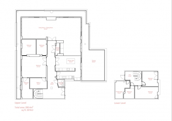 Floor Plan Image for 4 Bedroom Penthouse for Sale in Leftbank, Spinningfields