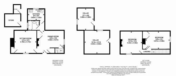 Floor Plan Image for 2 Bedroom Semi-Detached House for Sale in Cow Roast Cottage, Tring