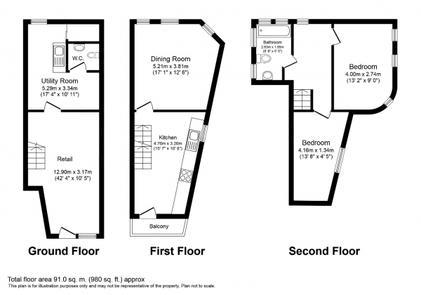 Floor Plan Image for Retail - High Street for Sale in Snakes Lane East, London, IG8 7QF