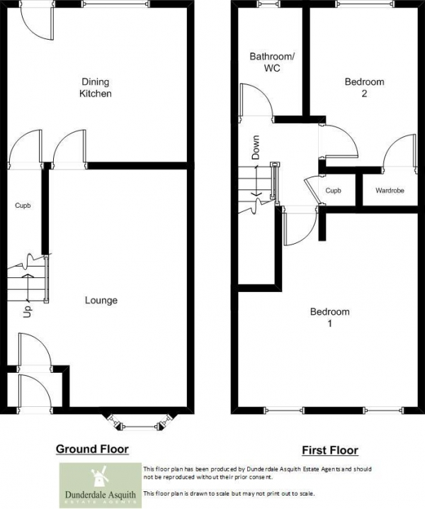 Floor Plan Image for 2 Bedroom Mews for Sale in Millbrook Mews, Lytham