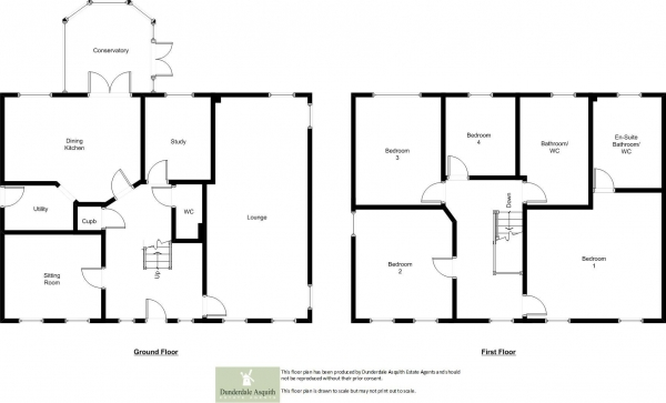 Floor Plan Image for 4 Bedroom Detached House for Sale in Victory Boulevard, Lytham Quays, Lytham