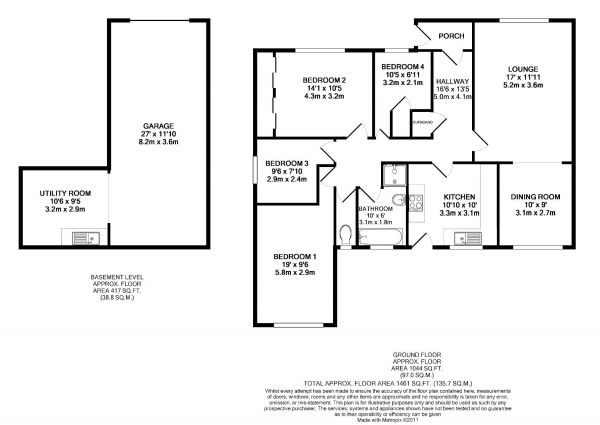 Floor Plan Image for 4 Bedroom Detached Bungalow for Sale in Revidge Road, Blackburn