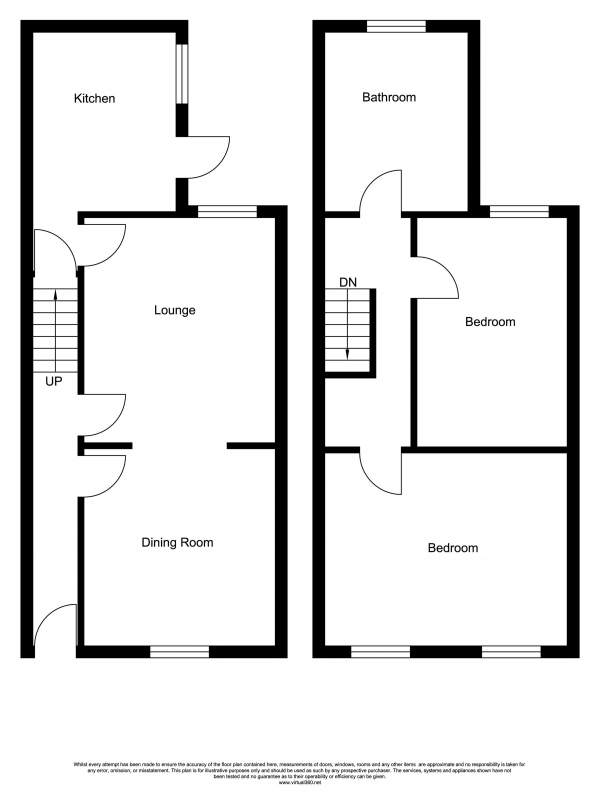 Floor Plan Image for 2 Bedroom Terraced House for Sale in Harold Avenue, Manchester