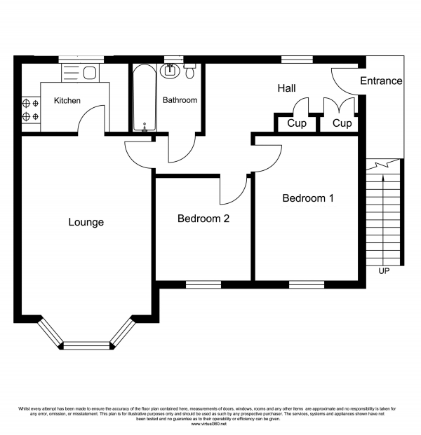 Floor Plan Image for 2 Bedroom Flat for Sale in Treeton, Rotherham
