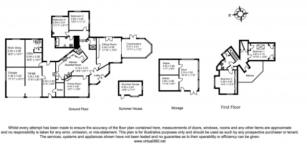 Floor Plan Image for 4 Bedroom Detached House for Sale in Mullion Cove, Helston