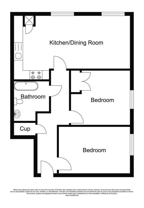 Floor Plan Image for 2 Bedroom Apartment for Sale in Loyd Lindsay Square, Winchester