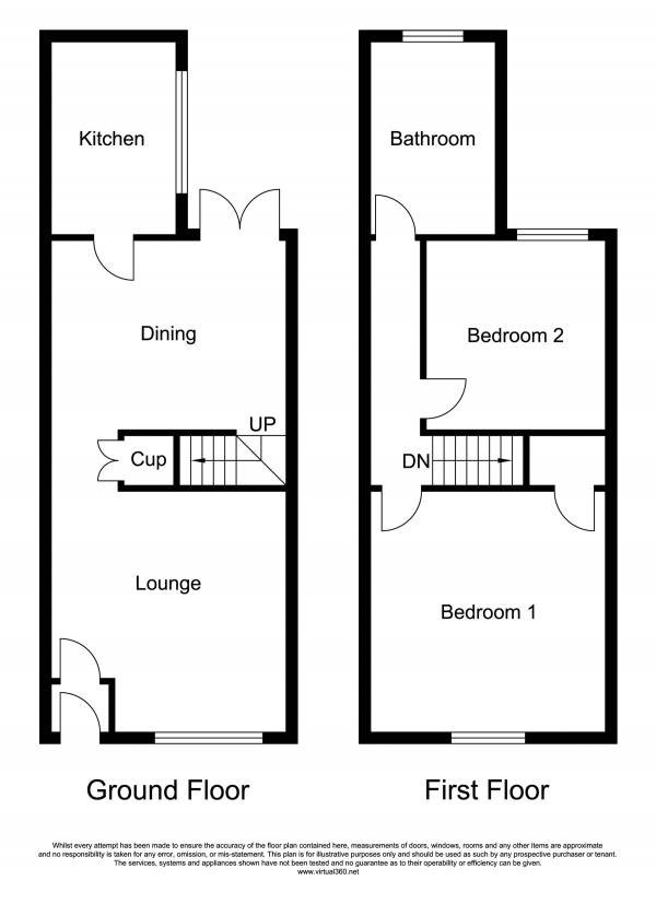 Floor Plan Image for 2 Bedroom Terraced House for Sale in Manchester Road, Manchester