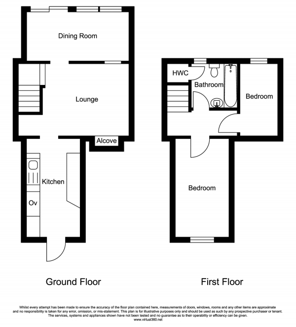 Floor Plan Image for 2 Bedroom Terraced House for Sale in Clifden Road, St Austell