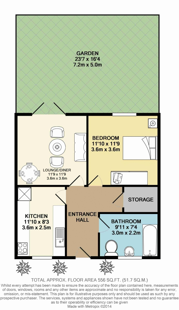 Floor Plan Image for 1 Bedroom Property for Sale in Monteagle Way, London