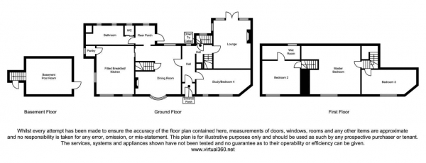 Floor Plan Image for 4 Bedroom Detached House for Sale in Near Burton on Trent, DE15
