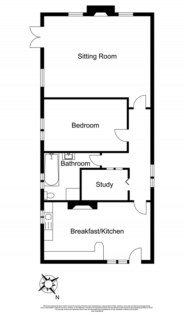 Floor Plan Image for 1 Bedroom Land for Sale in Newfields Lodge, Lumby Lane, Howden, DN14 7LT