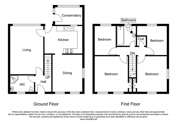 Floor Plan Image for 4 Bedroom Detached House for Sale in Hamberts Road, Chelmsford