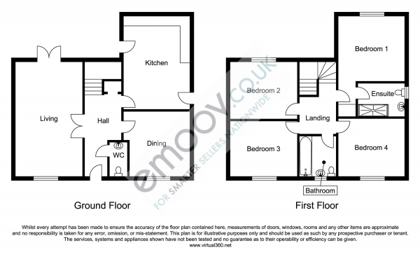 Floor Plan Image for 4 Bedroom Detached House for Sale in Stratford Road, Northampton