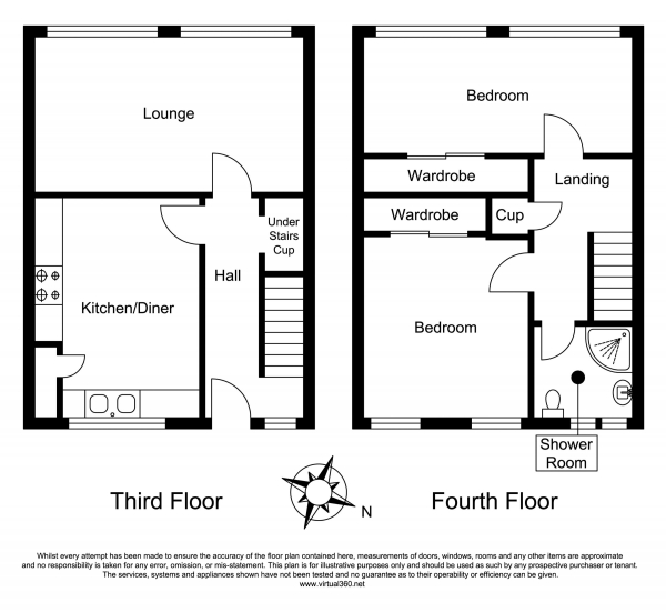 Floor Plan Image for 2 Bedroom Apartment for Sale in Crieff Court, Teddington, TW11