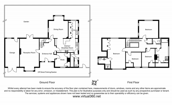 Floor Plan Image for 4 Bedroom Detached House for Sale in 21 Langley Avenue, Surbiton
