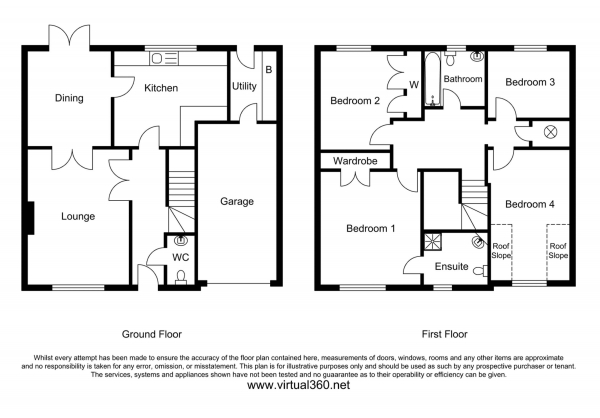 Floor Plan Image for 4 Bedroom Detached House for Sale in Muxton, Telford