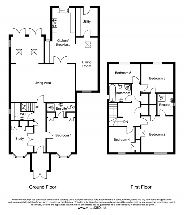 Floor Plan Image for 5 Bedroom Detached House for Sale in Maria Theresa Close, New Malden