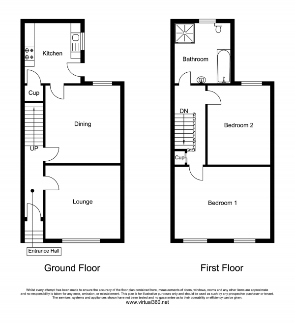 Floor Plan Image for 2 Bedroom Terraced House for Sale in Arnold Street, Derby