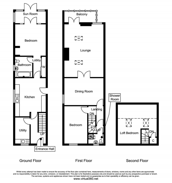 Floor Plan Image for 3 Bedroom End of Terrace House for Sale in Tunstead Road, Hoveton, Norwich