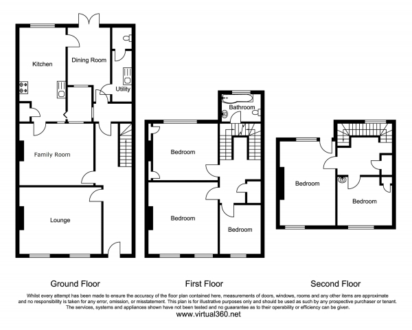Floor Plan Image for 5 Bedroom Terraced House for Sale in Topsham Road, Exeter