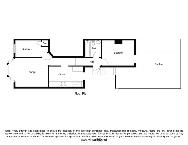 Floor Plan Image for 2 Bedroom Apartment for Sale in Huddleston Road, London