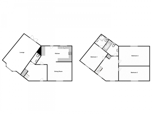 Floor Plan Image for 3 Bedroom Semi-Detached House for Sale in Oak Manor View,Great Leighs, Chelmsford