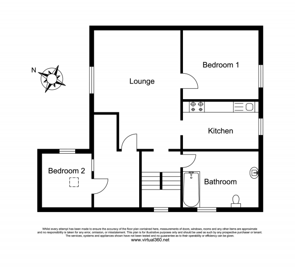 Floor Plan Image for 2 Bedroom Flat for Sale in Westville Hill, Kingsbridge