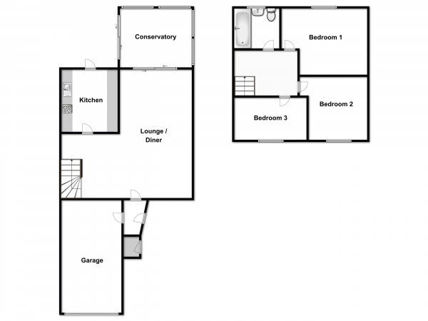 Floor Plan Image for 3 Bedroom Terraced House for Sale in Cedar Grove, Burnham-On-Crouch