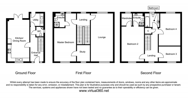 Floor Plan Image for 4 Bedroom Property for Sale in Lapwing Drive, Norwich