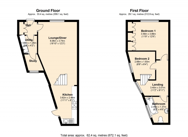 Floor Plan Image for 2 Bedroom Property for Sale in Evering Road, London, N16