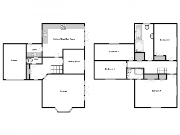 Floor Plan Image for 4 Bedroom Detached House for Sale in Walnut Drive, Colchester