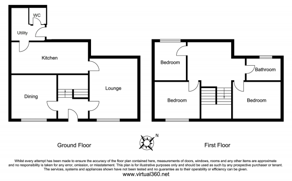 Floor Plan Image for 3 Bedroom Semi-Detached House for Sale in Stembridge, Martock