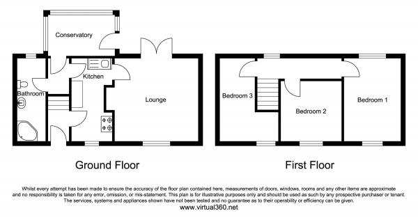 Floor Plan Image for 3 Bedroom Semi-Detached House for Sale in North Road, Sleaford
