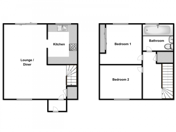 Floor Plan Image for 2 Bedroom Semi-Detached House for Sale in Hester Place, Burnham-On-Crouch