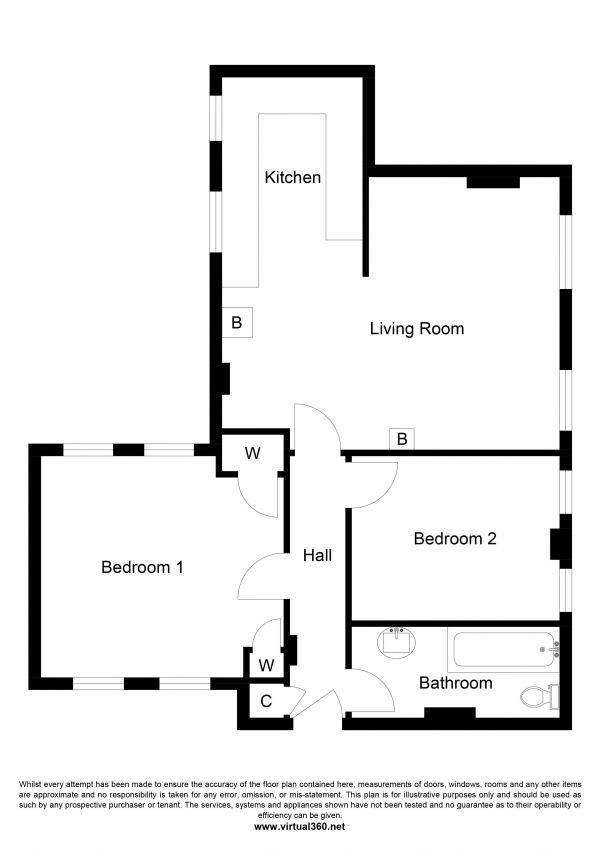 Floor Plan Image for 2 Bedroom Apartment for Sale in Dunstable Street,  Ampthill, Bedford
