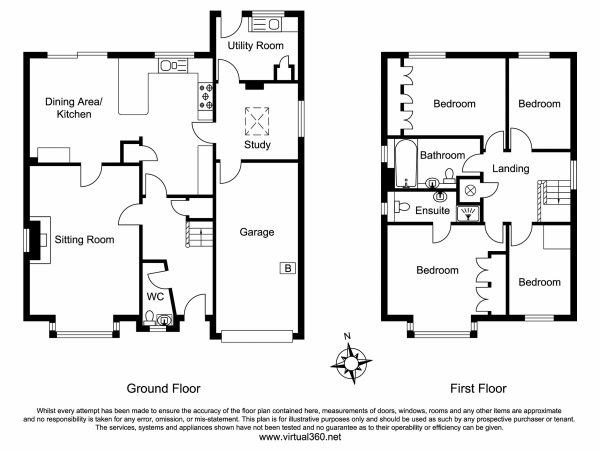 Floor Plan Image for 4 Bedroom Detached House for Sale in Deepdene, Haslemere, Surrey