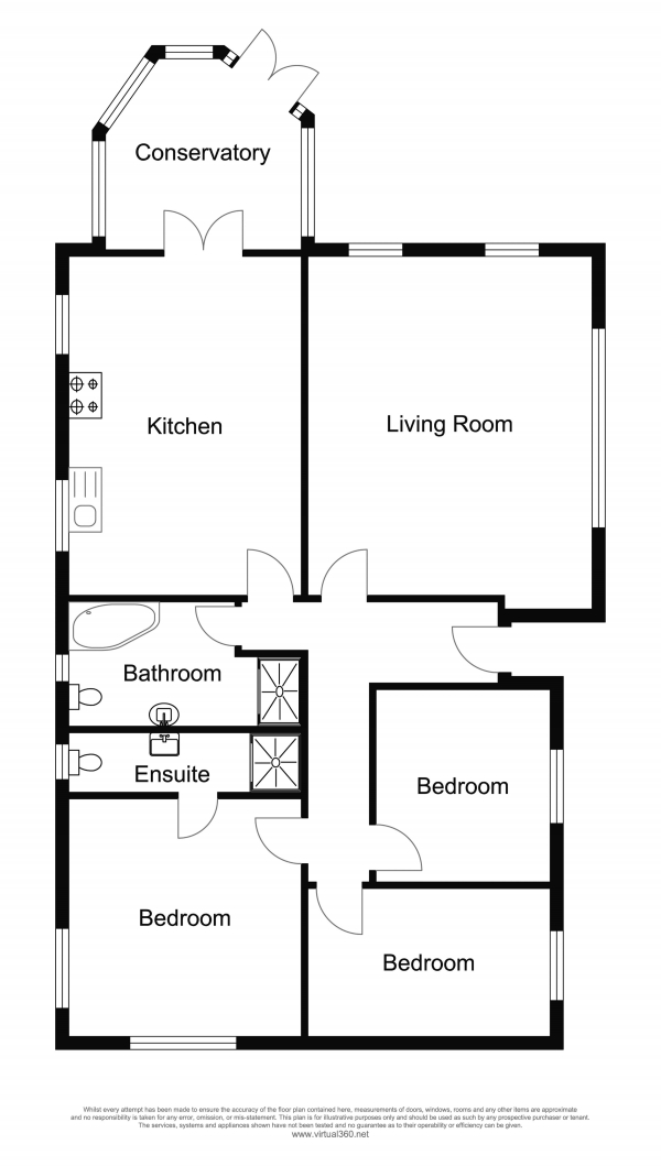 Floor Plan Image for 3 Bedroom Detached Bungalow for Sale in South Valley Drive, Colne