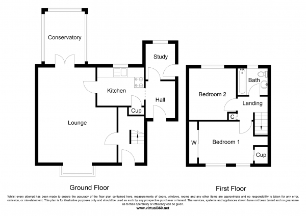 Floor Plan Image for 2 Bedroom Semi-Detached House for Sale in Wood Avenue, Heckmondwike, West Yorkshire
