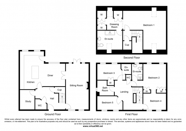 Floor Plan Image for 5 Bedroom Town House for Sale in Alcove Wood, Chepstow