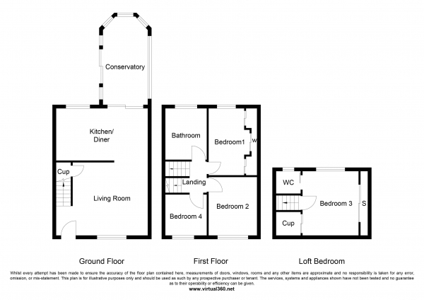 Floor Plan Image for 4 Bedroom Semi-Detached House for Sale in Birch Drive, Oldham