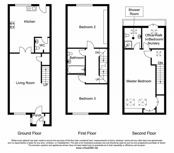 Floor Plan Image for 3 Bedroom Terraced House for Sale in Woodhouses, Failsworth Road, Manchester