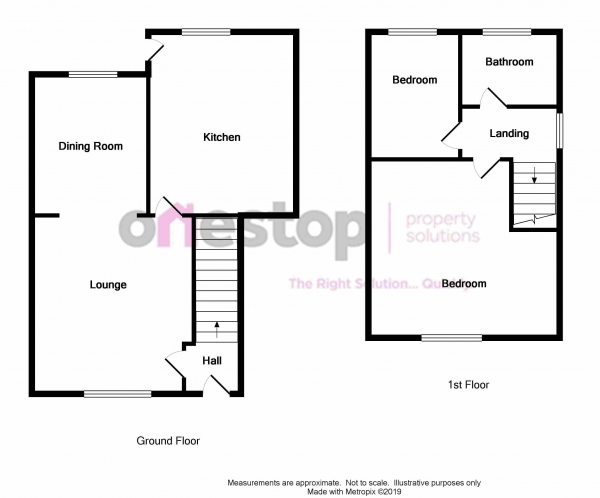 Floor Plan Image for 2 Bedroom Semi-Detached House for Sale in Winchester Road, Manchester M32 9PU