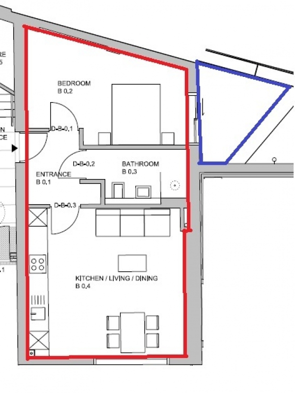 Floor Plan Image for 1 Bedroom Flat to Rent in Gloucester Avenue, Primrose Hill, NW1