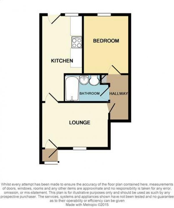Floor Plan Image for 1 Bedroom Apartment to Rent in Upper Church Lane, Tipton