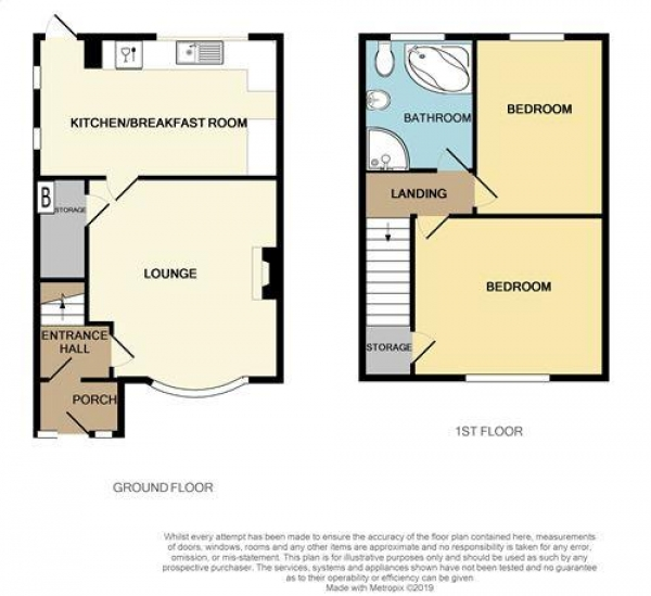 Floor Plan Image for 2 Bedroom Semi-Detached House for Sale in New Road, Burntwood