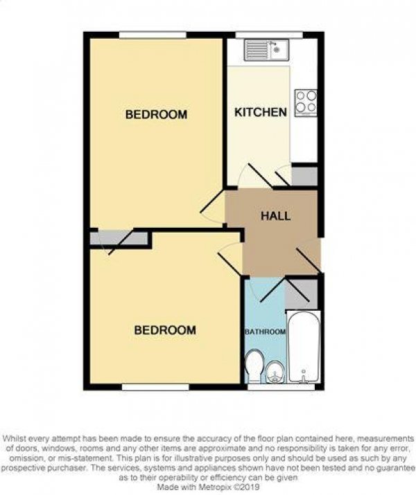 Floor Plan Image for 1 Bedroom Flat to Rent in Beacon Road, Park Farm, Great Barr